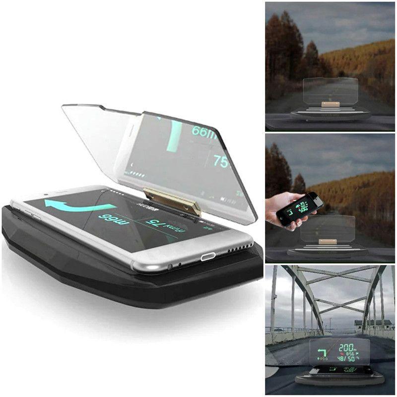Universal Car Head Up Display HUD Phone GPS Navigation Image Reflector Windscreen Projector For Smart Phones Cars gps Holder