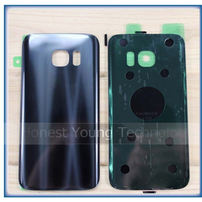 Ekvinor New Rear Panel Glass Battery Back Cover For Samsung Galaxy S7 G930 / S7 edge G935 Battery Cover Glass With Stickers