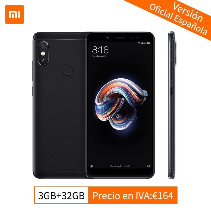 Global Version Xiaomi Redmi Note 5 3GB 32GB Mobile Phone AI Dual Camera Snapdragon 636 Octa Core 5.99