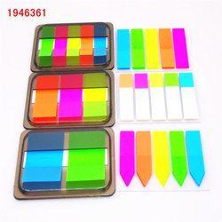 2018 Fluorescence couleur Auto-Adhésif Mémo Pad Collant Notes Bookmark Point Il Marker Mémo Autocollant Papier Bureau Fournitures Scolaires