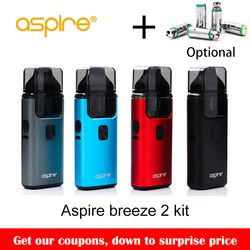 Big sale!! Original Aspire Breeze 2 AIO Kit Built-in 1000mAh Battery with 2ml/3ml Tank Atomizer Electronic Cigarette Vape Kit