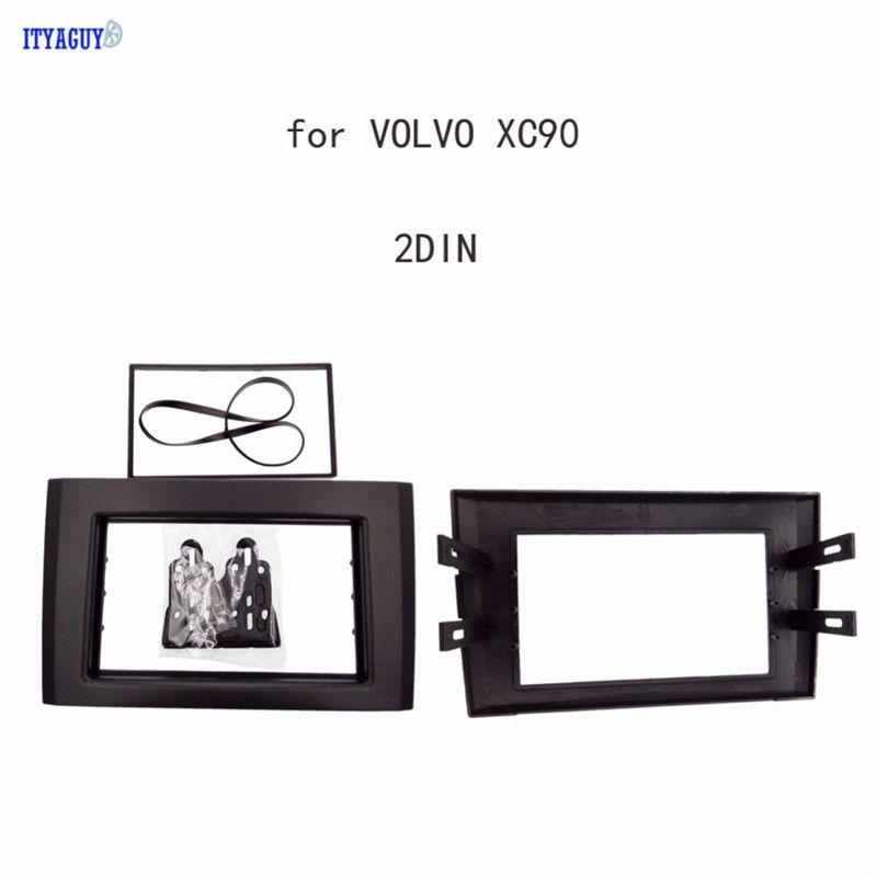 Car styling Double DIN Car Radio Audio Fascia for VOLVO XC90  Panel Trim Dash Frame Adaptor Free shipping