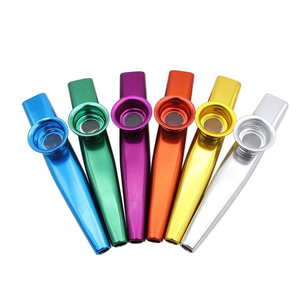 Набор из 6 цветов Металл kazoo Музыкальные инструменты хороший компаньон для гитары укулеле отличный подарок для детей любителей музыки