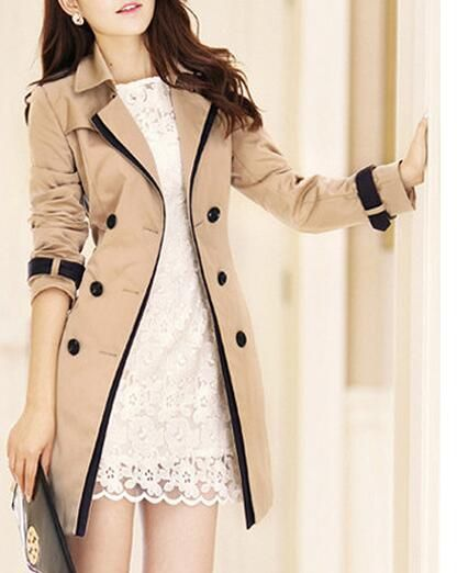 women's Trench Coats Long sleeve Fashion Turn-down Collar Overwear Clothing S-XXXL 2017 new hot spring autumn Overcoats