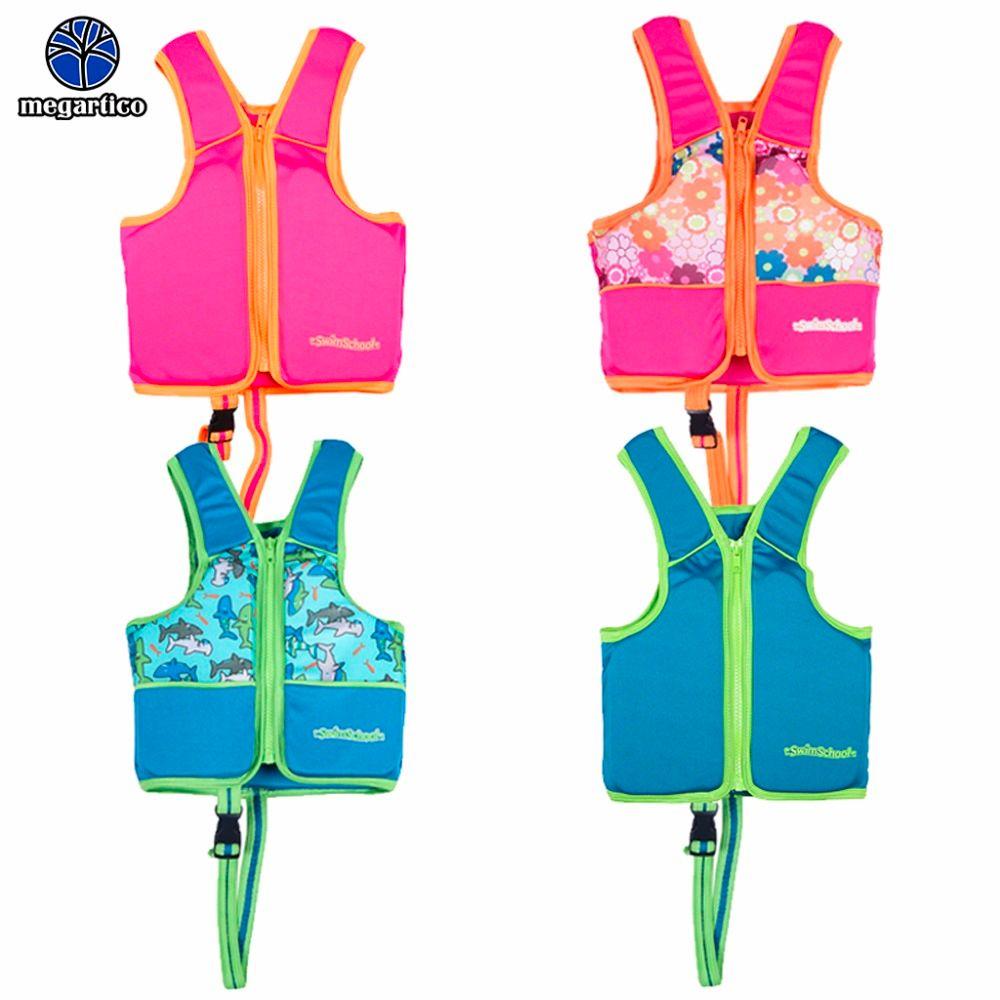 Megartico life vest kids children zwemvest voor kids flower shark printed life jacket kayak pool beach swimming child lifesaver