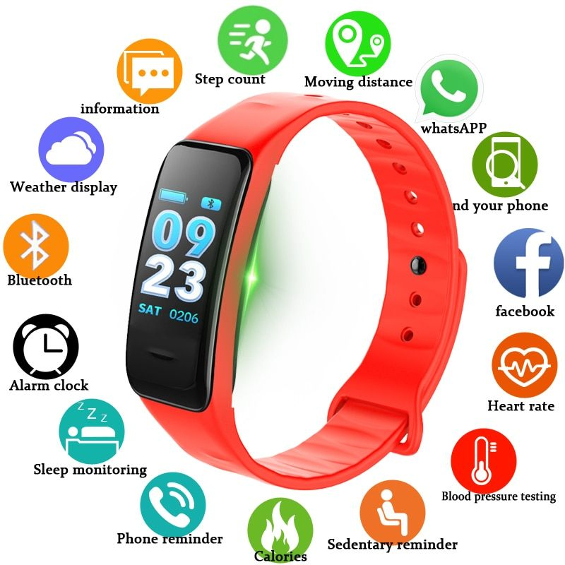 Men Women Sport Fitness Smart Bracelet Remote Camera Call Information Reminder Smart Wristband Pulsera inteligente PK mi band 3