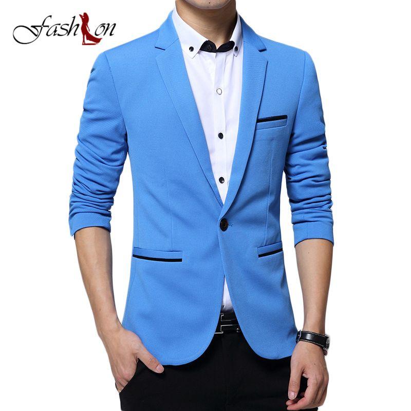 Fashion Men Blazer Casual Suit Slim Fit Suit Jacket Men Business Sping Autumn Costume Homme Terno Masculin Leisure Blazer Jacket