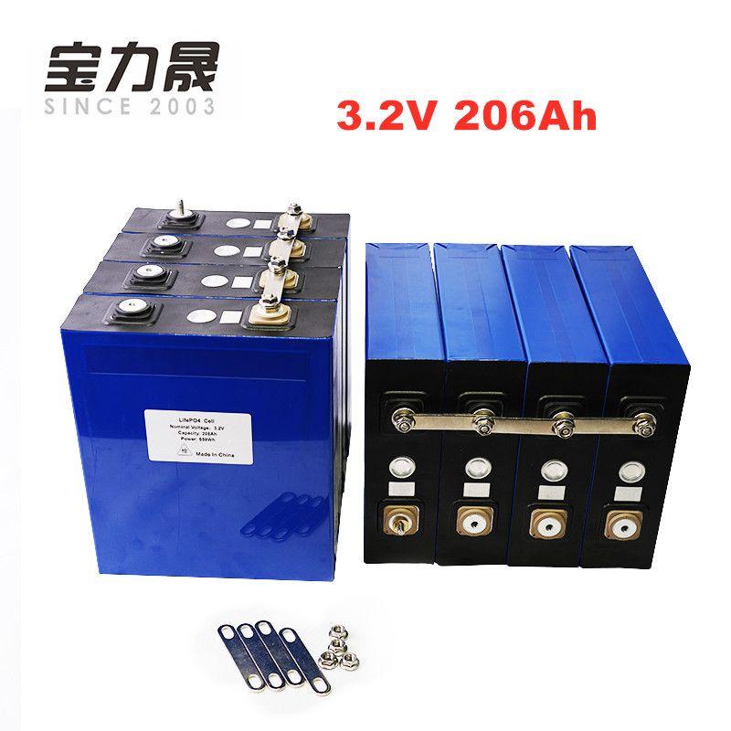 8 teile/los 3.2V206AH 3C 600A lifepo4 Batterie zelle 12v206ah 24v206ah ETC batterie für Solar Hohe kapazität UPS Zu Hawaii