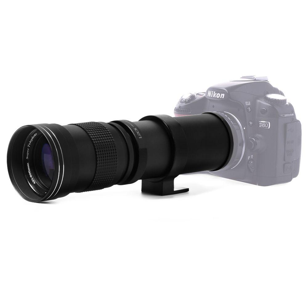 Lightdow 420-800mm F/8.3-16 Super Téléobjectif Manuel Zoom Objectif pour Canon Nikon Sony pentax Appareil Photo REFLEX NUMÉRIQUE