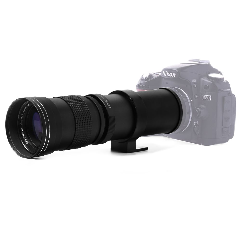 Lightdow 420-800mm F/8.3-16 Super Telephoto Lens Manual Zoom Lens for Canon <font><b>Nikon</b></font> Sony Pentax DSLR Camera