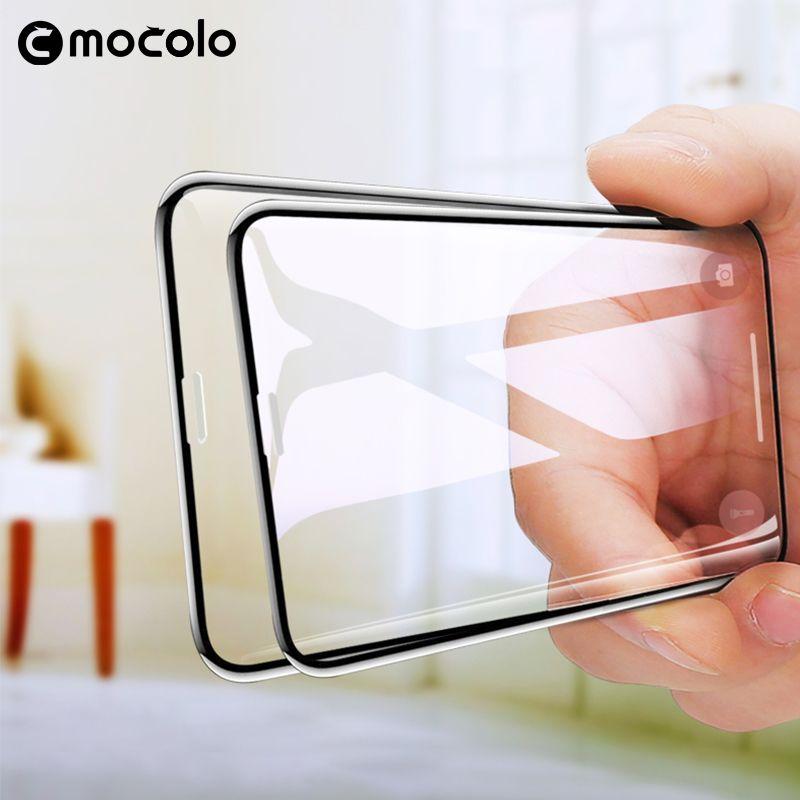 Mocolo 3D verre Premium incurvé pour iPhone XS MAX Film de verre trempé protecteur d'écran complet pour iPhone XR colle complète pour XS