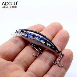 Aoclu Wobblers Jerkbait 8 Warna 5 Cm 4.0G Umpan Keras Kecil Ikan Kecil Engkol Memancing Umpan Bass Segar Air Garam mengatasi Tenggelam Godaan