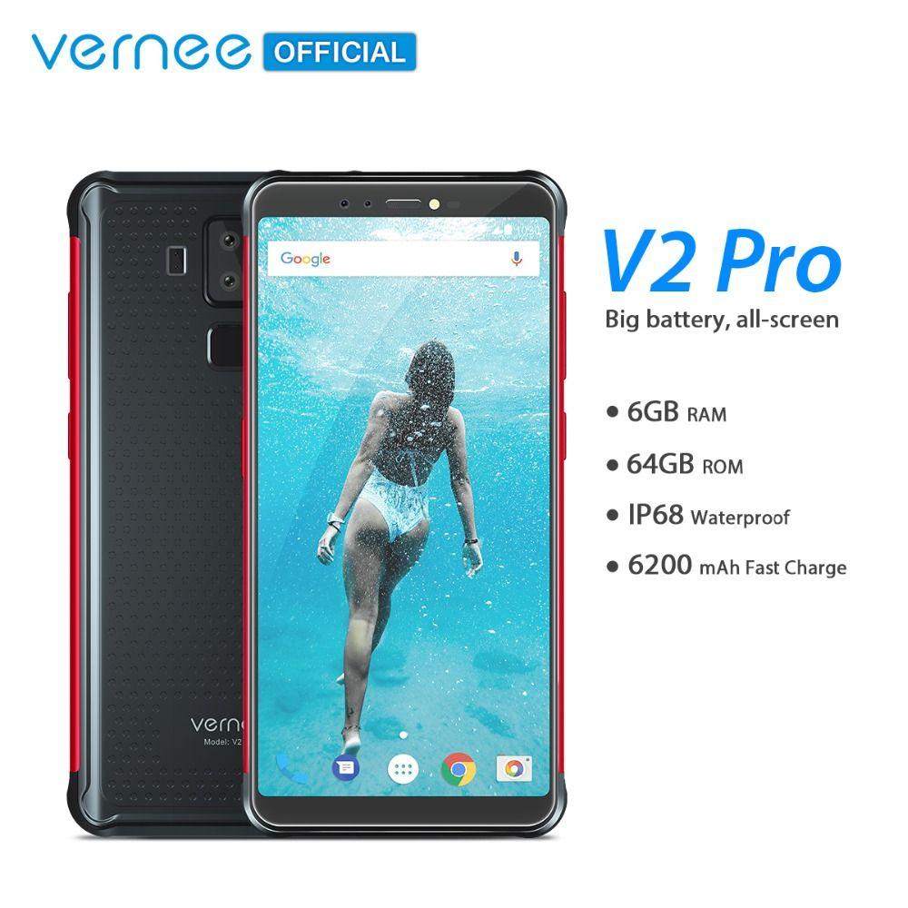 Vernee V2 Pro IP68 Waterproof Smartphone 5.99