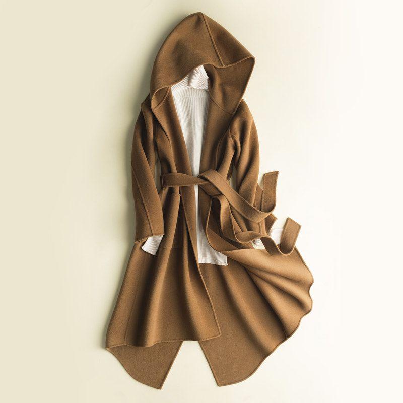 2017 autumn and winter women's cashmere coat double-sided cashmere long coat, Slim models wool cardigan female coat