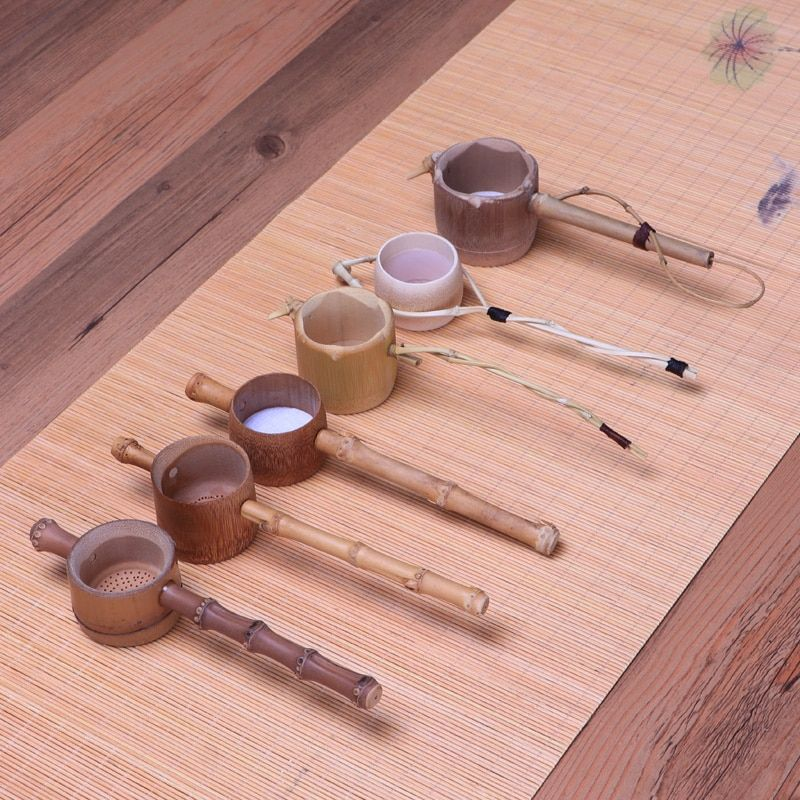 Bambou tea leaf passoire main résistant à La Chaleur créative Chinois Kungfu thé accessoires cuisine thé outils décoration de la maison cadeau