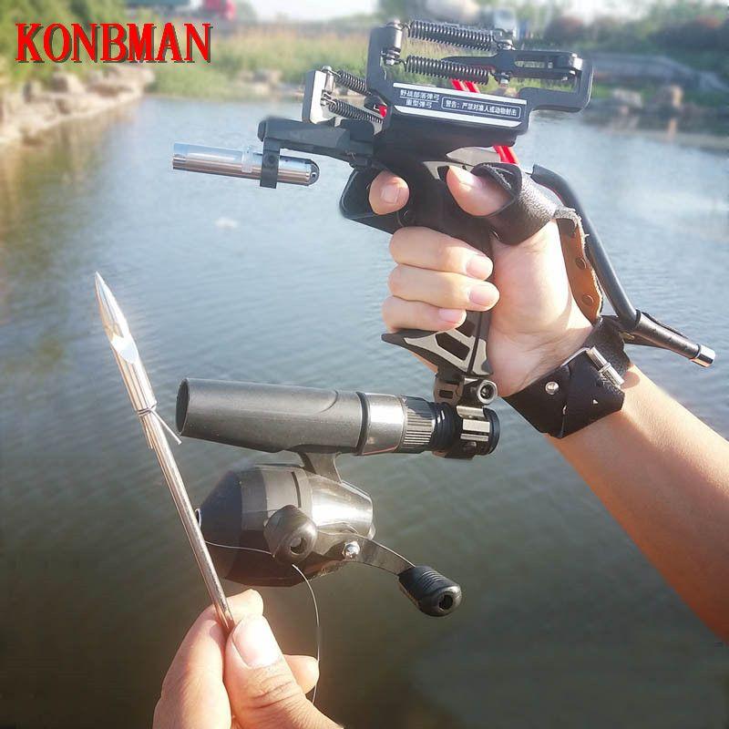 2018 High Quality Laser Slingshot Black Red Hunting slingshot Fishing Catapult Fishing Bow Outdoor Powerful Slingshot Catapult
