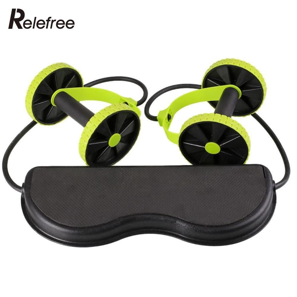 Relefree Abdominal Wheel abdominal muscle trainer Fitness Abdominal roller Trainer ABS workout Kit Crossfit abdominal exerciser