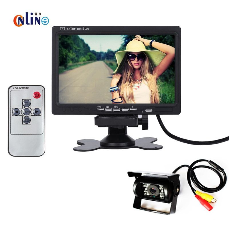DC 12V~24V Truck Bus Parking Monitor Camera System, 7