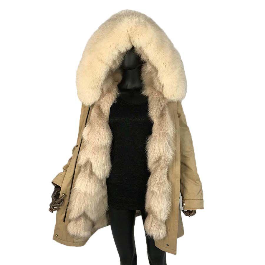 2019 echt fox splitter fuchs pelz lange parkas fuchs pelz große große kragen fuchs pelz liner dicke warme winter mode neue echt pelzmantel