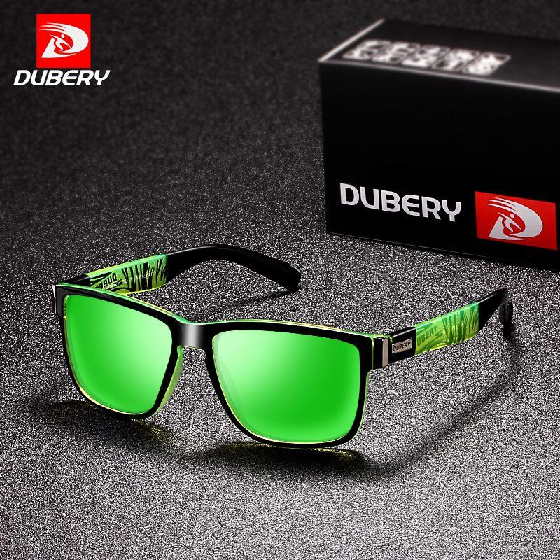DUBERY 2018 Sport Sunglasses Polarized For Men Sun Glasses Square Driving Personality Color Mirror Luxury Brand Designer UV400