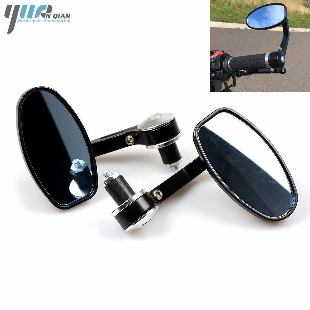 For Yamaha MT07 MT09 TMAX 500 530 T MAX YZF R125 R6 Handel Bar Ends Motorcycle Mirror Handlebar Ends Rear Mirrors Side Mirrors