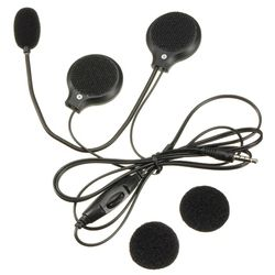 MAHA 3.5mm Jack Motorcycle Bike Microphone Stereo Speaker Helmet Headphone Earphone MP3
