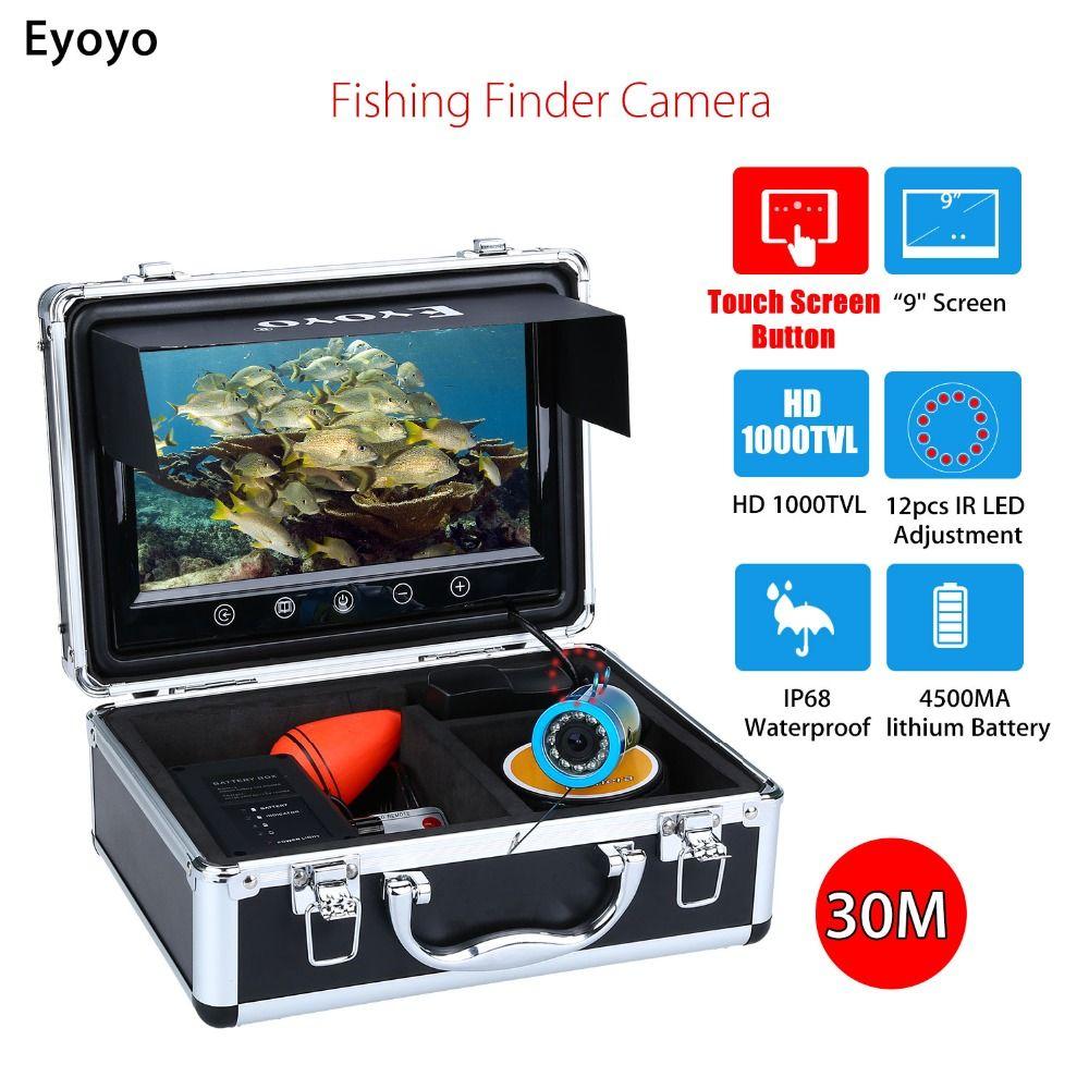 Eyoyo WF09T 9 30 Mt Touchscreen Infrarot HD 1000TVL Unterwasser Eisfischen Kamera Fisch Finder Video Fishfinder Meer Boot