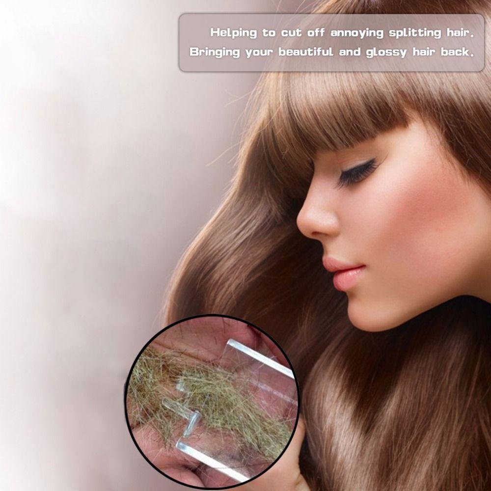 Fractionnement Cheveux Coupe Rasoir Cheveux Dispositif De Salon De Beauté USB Rechargeable Petit Cadeau Boîte Pack (Sans batterie) dropshipping