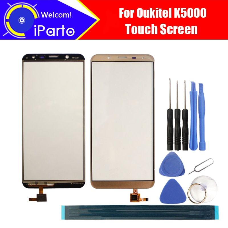 5.7 inch Oukitel K5000 Touch Screen Glass 100% Guarantee Original New Glass Panel Touch Screen For K5000 + tools+Adhesive