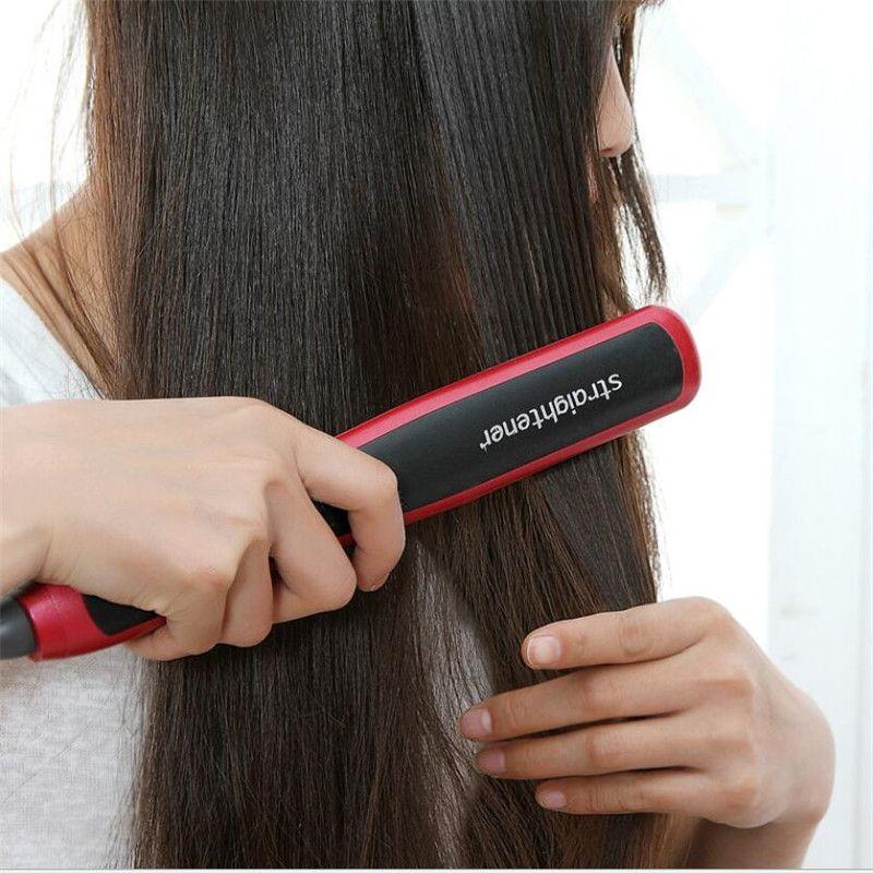 Fer à lisser électrique brosse en céramique rapide chauffage redressage peigne plus droit Salon Styler coiffure brosse à cheveux droite