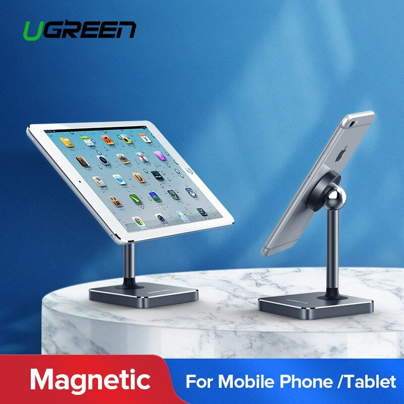 Ugreen Magnetic Tablet Holder Magnet Cell Phone Holder Mount Desk Holder <font><b>Stand</b></font> for iPhone 8 iPad Samsung Galaxy S9 Phone Holder