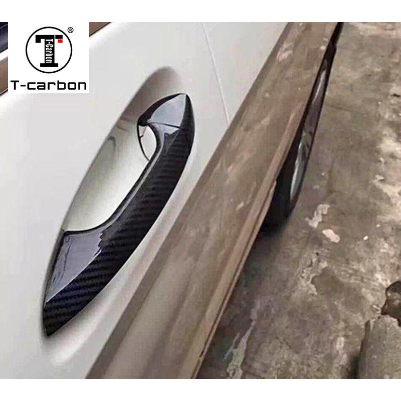 Carbon Faser Tür Griff Abdeckung Für Benz A B C E S GLA GLK CLA CLS GL GLS Klasse W176 w246 W218 R176 W204 W117 W212 X156 X166