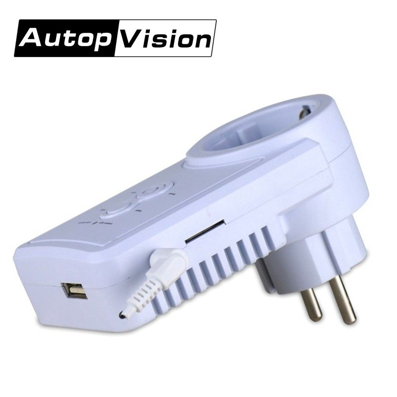 GSM Power Plug Socket With Temperature Sensor Intelligent Temperature Control Socket Russian SMS Remote Control GSM Switch