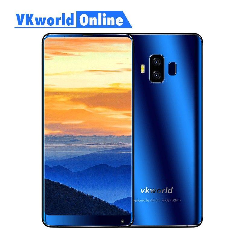 Vkworld S8 <font><b>5.99</b></font> Inch FHD Full Screen 4G Smartphone 5500mAh Face ID 4GB Ram 64GB Rom MTK6750T Octa Core Dual Camera Mobile Phone