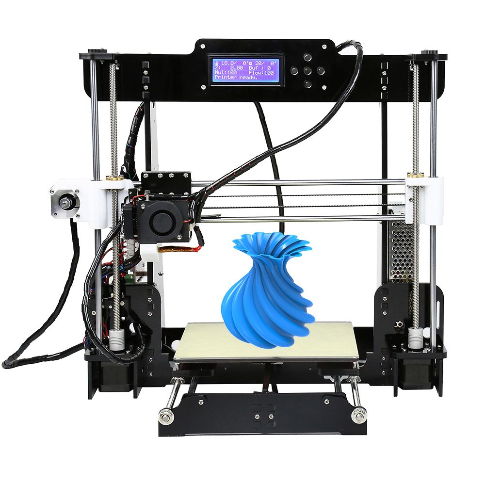 Anet Auto Level&Normal A8 Reprap Prusa I3 DIY 3D Printer Kit High-precision Three-dimensional 3D Printing LCD Screen 8G SD Card