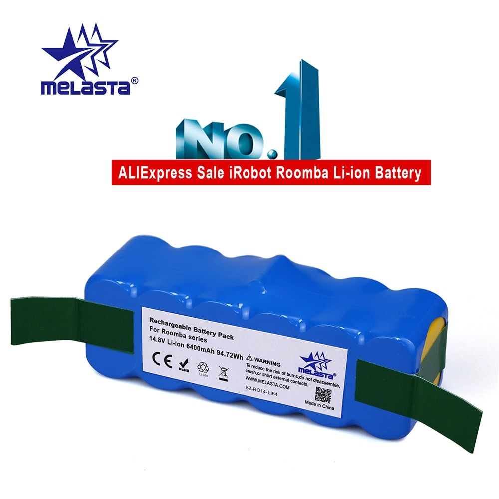 6.4Ah 14.8V Li-ion Battery for iRobot Roomba 500 600 700 800 Series 510 530 550 560 580 620 630 650 760 770 780 790 870 880 R3