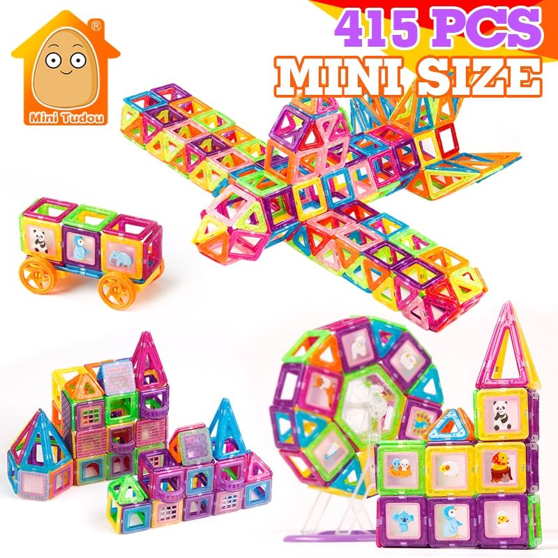 415PCS Mini Magnetic Blocks Magnet Models Building Toy Magnetic Construction Designer Bricks Magnetic Toys Educational Kids Gift