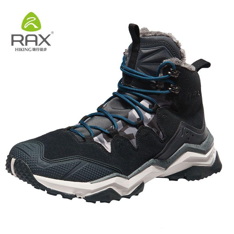 RAX Wandern Stiefel Männer Wasserdichte Winter Schnee Stiefel Pelz futter Leichte Trekking Schuhe Warme Outdoor Turnschuhe Berg Stiefel Männer