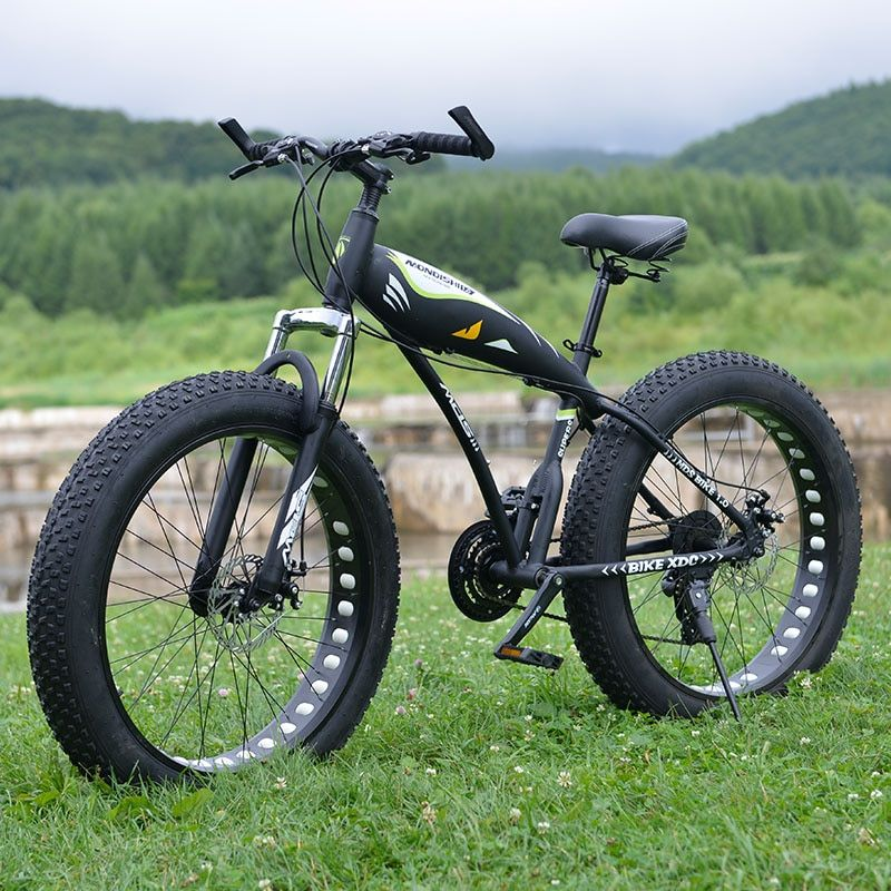 24 speed 26 inch fat bike Aluminum Alloy frame snow bike with Shockingproof Frame super wide tire mountain bike free shipping