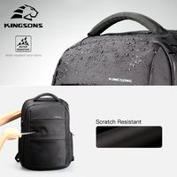 Kingsons de carga externa USB ordenador portátil mochila Anti-robo de hombre de negocios Dayback mujeres de viaje bolsa de 15,6 pulgadas