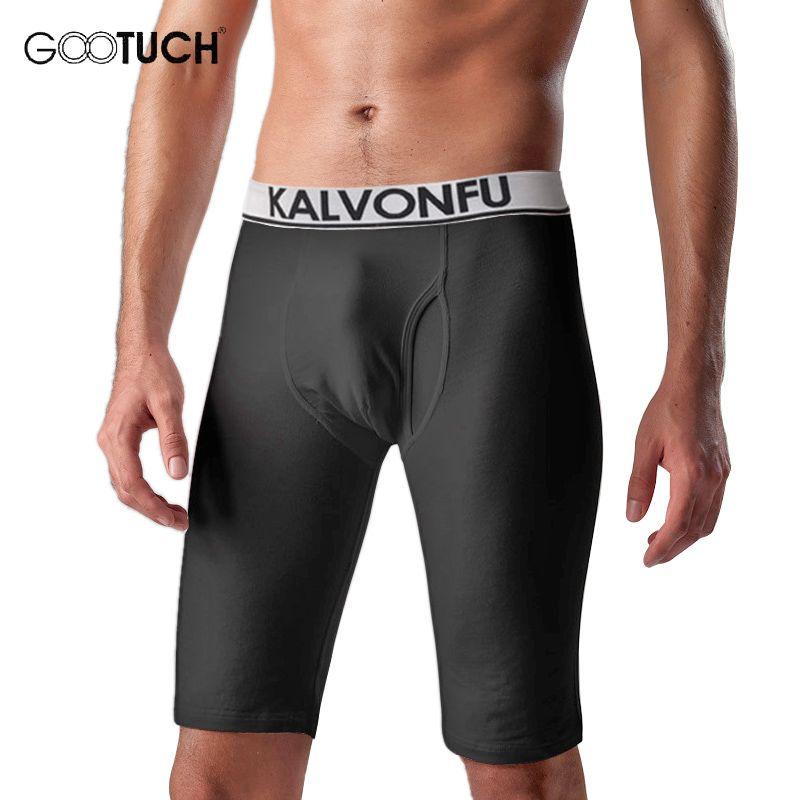Compression Sous-Vêtements Hommes À Long Boxeur Shorts Plus La Taille Hommes Sous-Vêtements Serrés Genou Longueur Boxeurs Hiver Chaud Slip 5XL 6XL