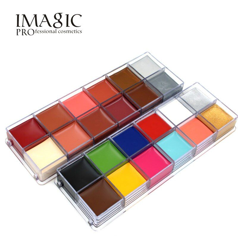 IMAGIC 12 Colors <font><b>Flash</b></font> Tattoo Face Body Paint Oil Painting Art use in Halloween Party Fancy Dress Beauty Makeup Tool