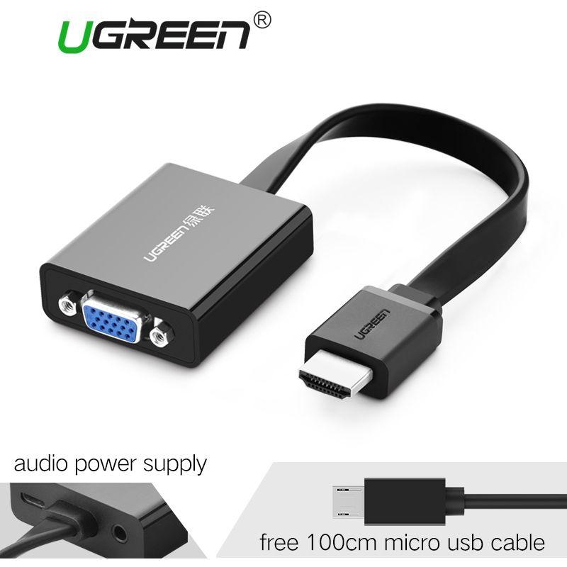 Ugreen HDMI vers VGA Adaptateur Numérique à Analogique Vidéo Audio Converter câble HDMI VGA Connecteur pour Xbox 360 PS4 PC Portable TV boîte