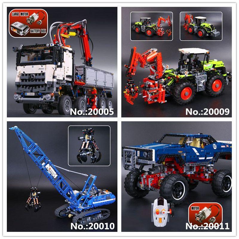 LEPIN 20005 Arocs 20009 Heavy Tractors 20010 Crawler Crane 20011 off-road vehicles Building Block Toys 42043 41999 42054 42042
