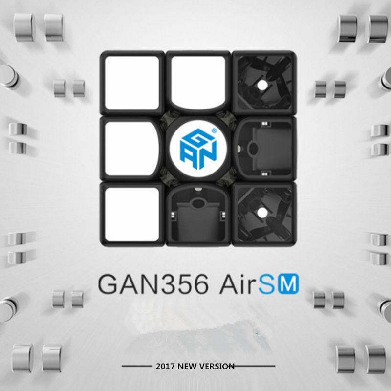 Ган 365 Air SM 3x3x3 Скорость Cube Черный Цвет Ган Air SM Магнитная 3x3x3 головоломки Скорость Cube обучения Игрушечные лошадки для детей
