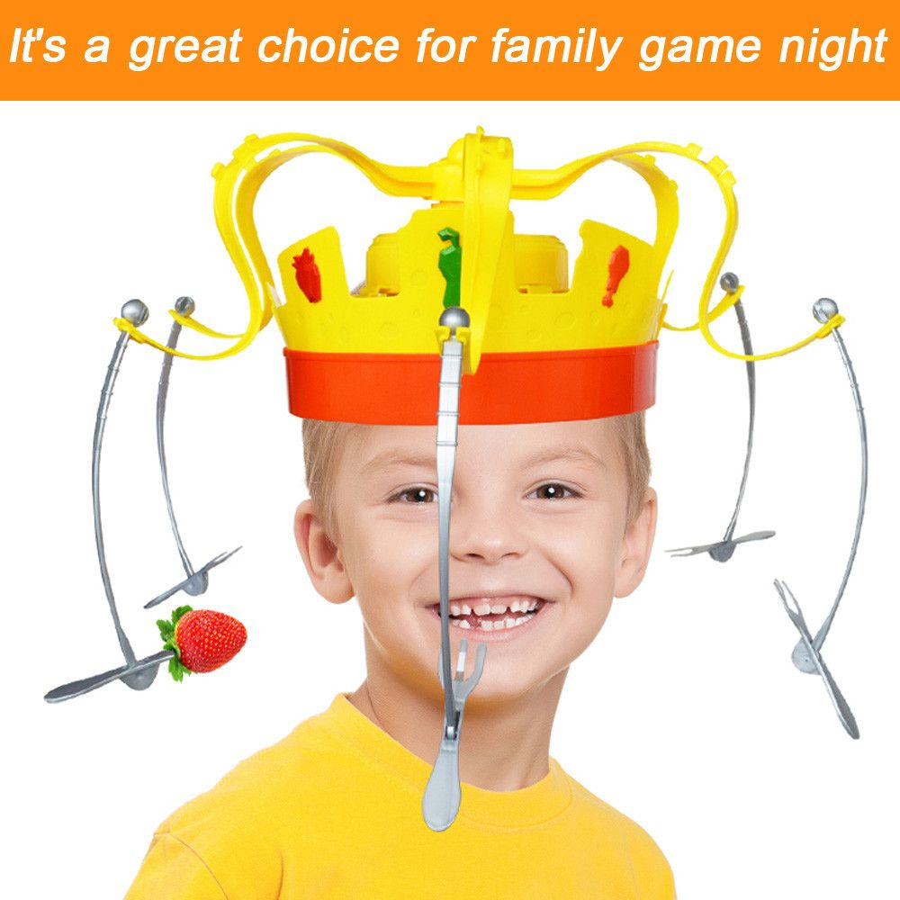 2018 Toy kids Family  Novel Chow Crown Game Musical Spinning Crown Snacks Food Party Toy Child funny Family Top Gift