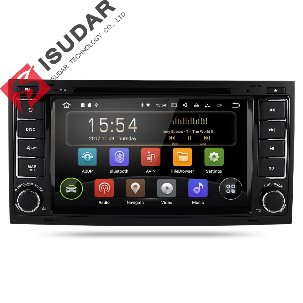 Isudar Car Multimedia player Android 8.1 GPS 7 Inch 2 Din Autoradio For VW/Volkswagen/Touareg Canbus Wifi FM Radio USB DVR
