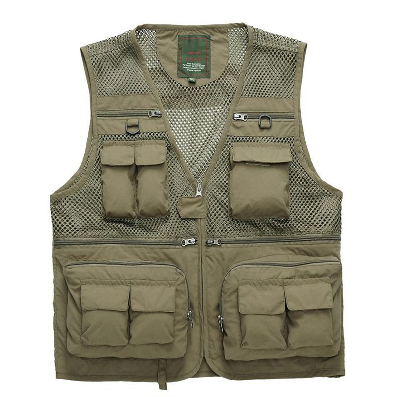 Strong-Toyers Outdoor Fishing Vest Summer use Hunting Vest Fish Jackets Multi-pockets Professional Photography Vest Men