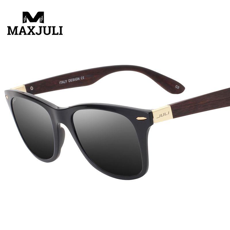 MAXJULI revêtement lunettes de soleil hommes bois lunettes de soleil Gafas bambou lunettes de soleil en bois femmes sport imprimé Wrap 52 MM lunettes de soleil