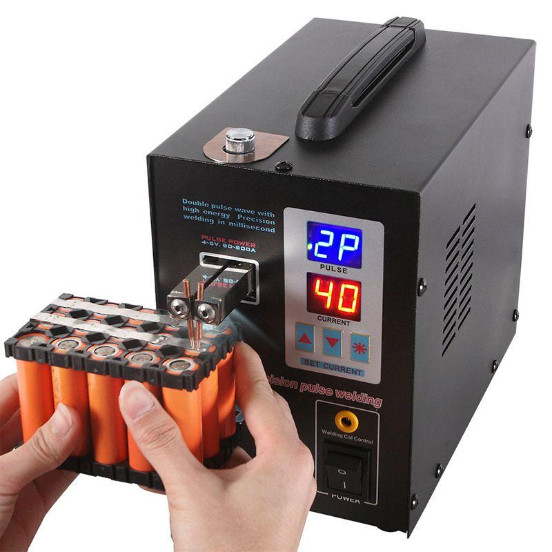SUNKKO 737G Batterie Spot schweißer 1.5kw LED licht Spot Schweißen Maschine für 18650 batterie pack schweißen präzision pulse spot schweißer